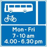 bus lane road sign