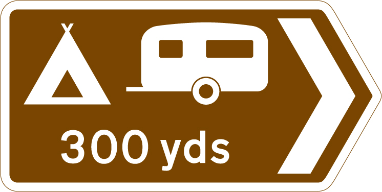 direction-and-tourist-signs - camping direction