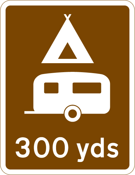 direction-and-tourist-signs - camping distance