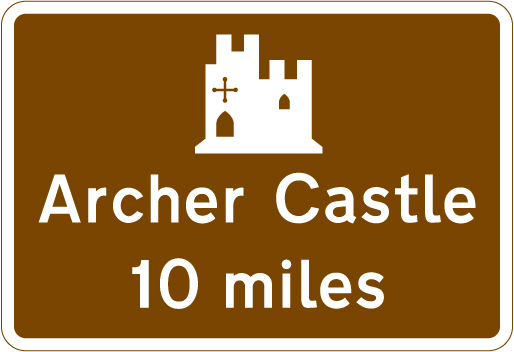 direction-and-tourist-signs - castle