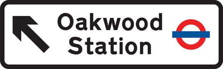 direction-and-tourist-signs - direction to oakwood tube station