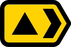 direction-and-tourist-signs - diversion triangle