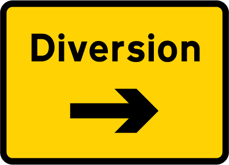 direction-and-tourist-signs - diversion