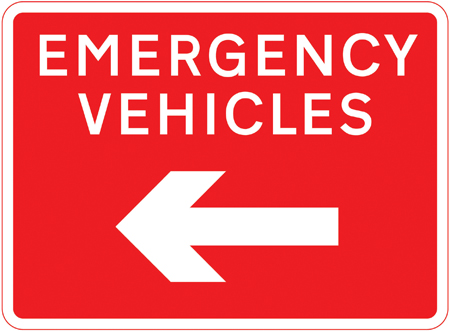 direction-and-tourist-signs - emergency vehicles
