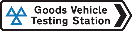 direction-and-tourist-signs - goods vehicle testing station