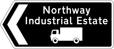 direction-and-tourist-signs - industrial state route for trucks