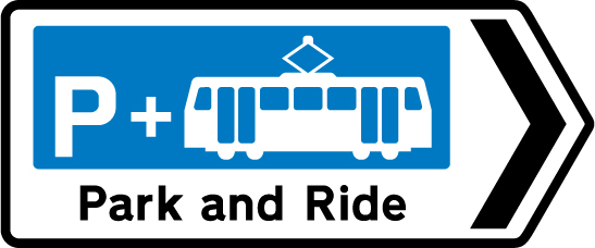 direction-and-tourist-signs - park ride tram