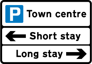 direction-and-tourist-signs - parking advice