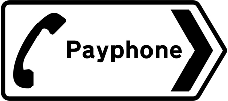 direction-and-tourist-signs - payphone