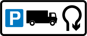 direction-and-tourist-signs - route for truck parking