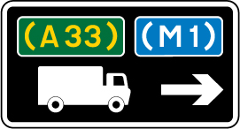 direction-and-tourist-signs - route for trucks