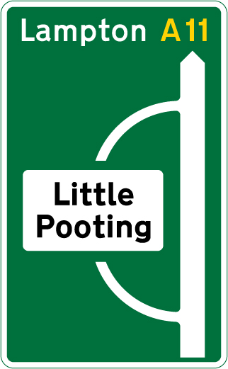 direction-and-tourist-signs - route to little pooting