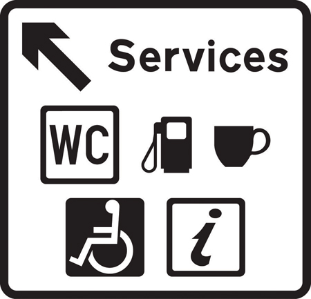 direction-and-tourist-signs - services direction