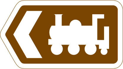direction-and-tourist-signs - steam railway