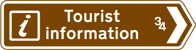 direction-and-tourist-signs - tourist information distance