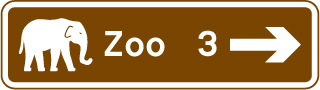 direction-and-tourist-signs - zoo distance