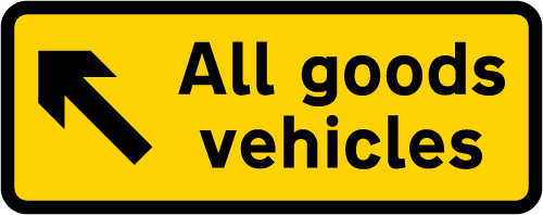 information-signs - all goods vehicles in diversion