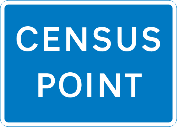 information-signs - census point