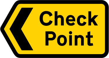 information-signs - check point