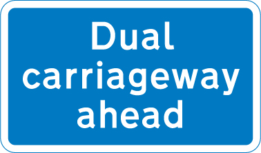 information-signs - dual carriageway ahead