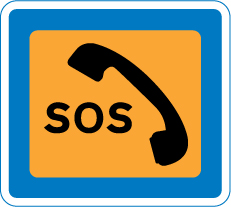 information-signs - emergency telephone