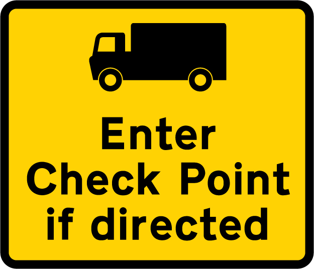 information-signs - enter checkpoint if directed