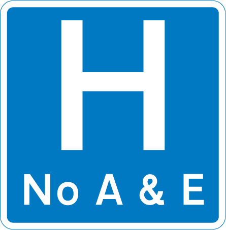 information-signs - hospital no a and 3