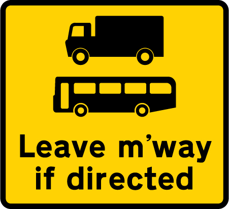 information-signs - leave motorway if directed