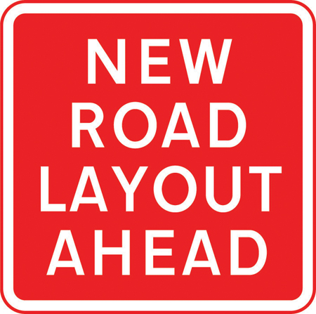 information-signs - new road layout