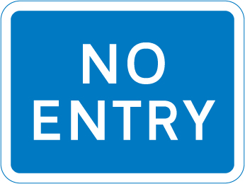 information-signs - no entry