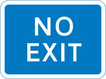 information-signs - no exit