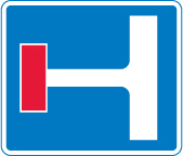 information-signs - no through route left