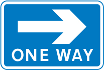 information-signs - one way