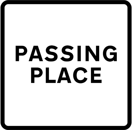information-signs - passing place