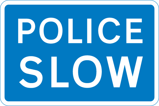 information-signs - police slow