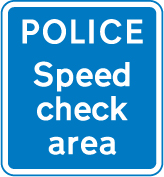 information-signs - police speed check area