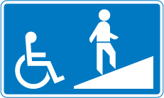 information-signs - ramp