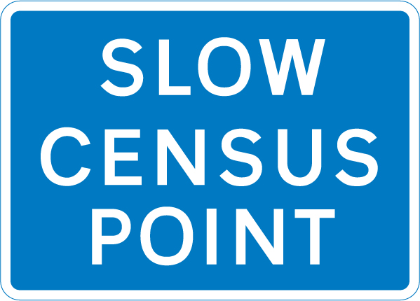 information-signs - slow census point