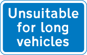 information-signs - unsuitable for long vehicles