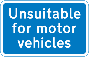 information-signs - unsuitable for motor vehicles
