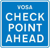 information-signs - vosa check point ahead