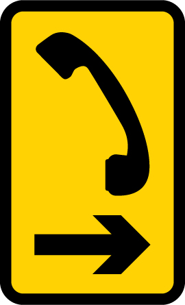 level-crossing-signs - direction to level crossing telephone