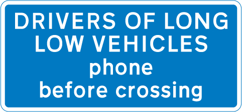 level-crossing-signs - drivers of long vehicles use phone
