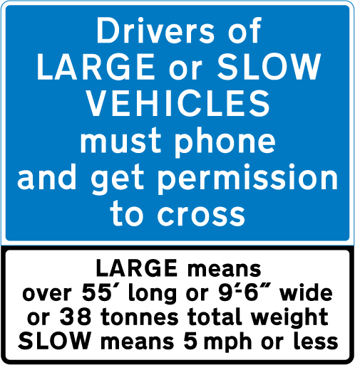 level-crossing-signs - drivers of low vehicles use phone