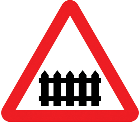 level-crossing-signs - level crossing with barrier