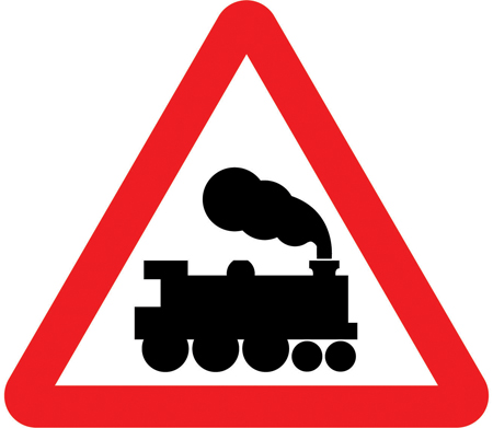 level-crossing-signs - level crossing without barrier