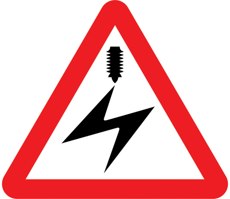 level-crossing-signs - overhead cables