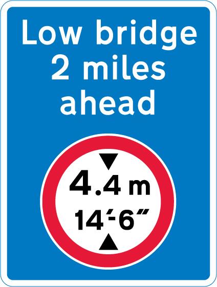 low-bridge-signs - low bridge ahead