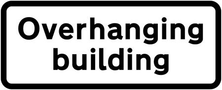 low-bridge-signs - overhanging building
