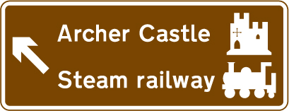 motorway-signs - archer castle directions